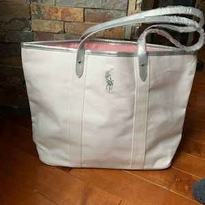 Handbags - Polo Ralph Lauren tote bag white and silver